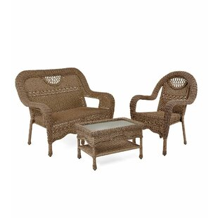 Prospect Hill Beach House Walnut 3 Piece Sofa Set