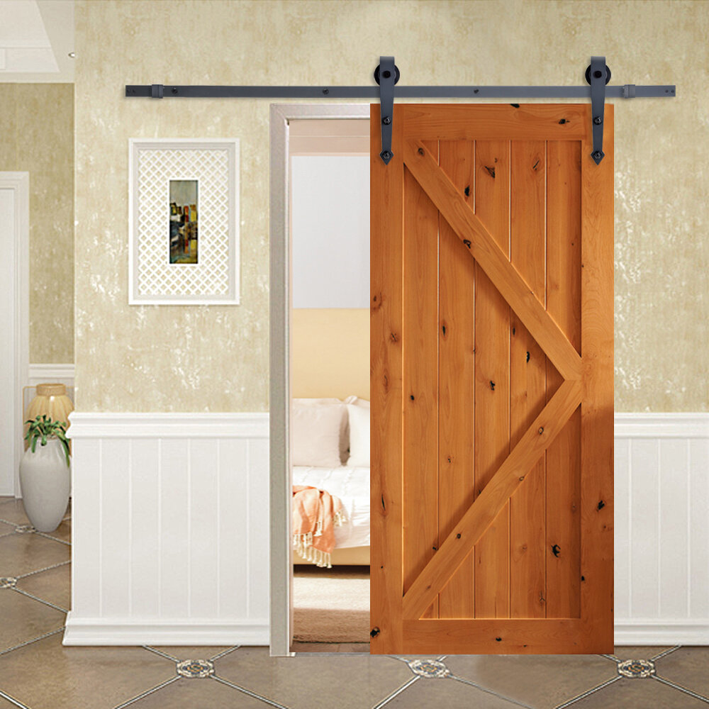 Calhome Vintage Arrow Sliding Standard Single Barn Door Hardware Kit Reviews Wayfair