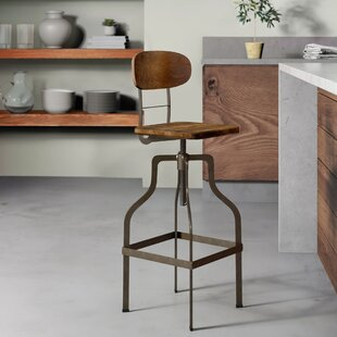 Denice Metal Adjustable Height Swivel Bar Stool Greyleigh