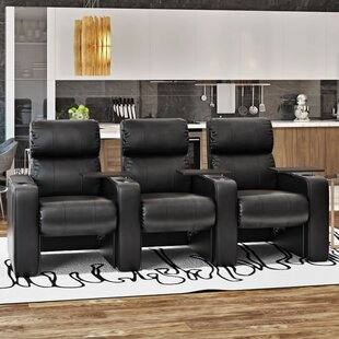 Luxury Manual Rocker Recline Home Theater Sofa (Row of 3) By Latitude Run