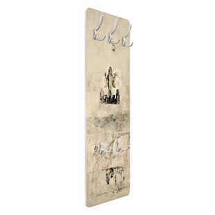 Old Decorated Concrete Wall In Theatre Wall Mounted Coat Rack By Symple Stuff