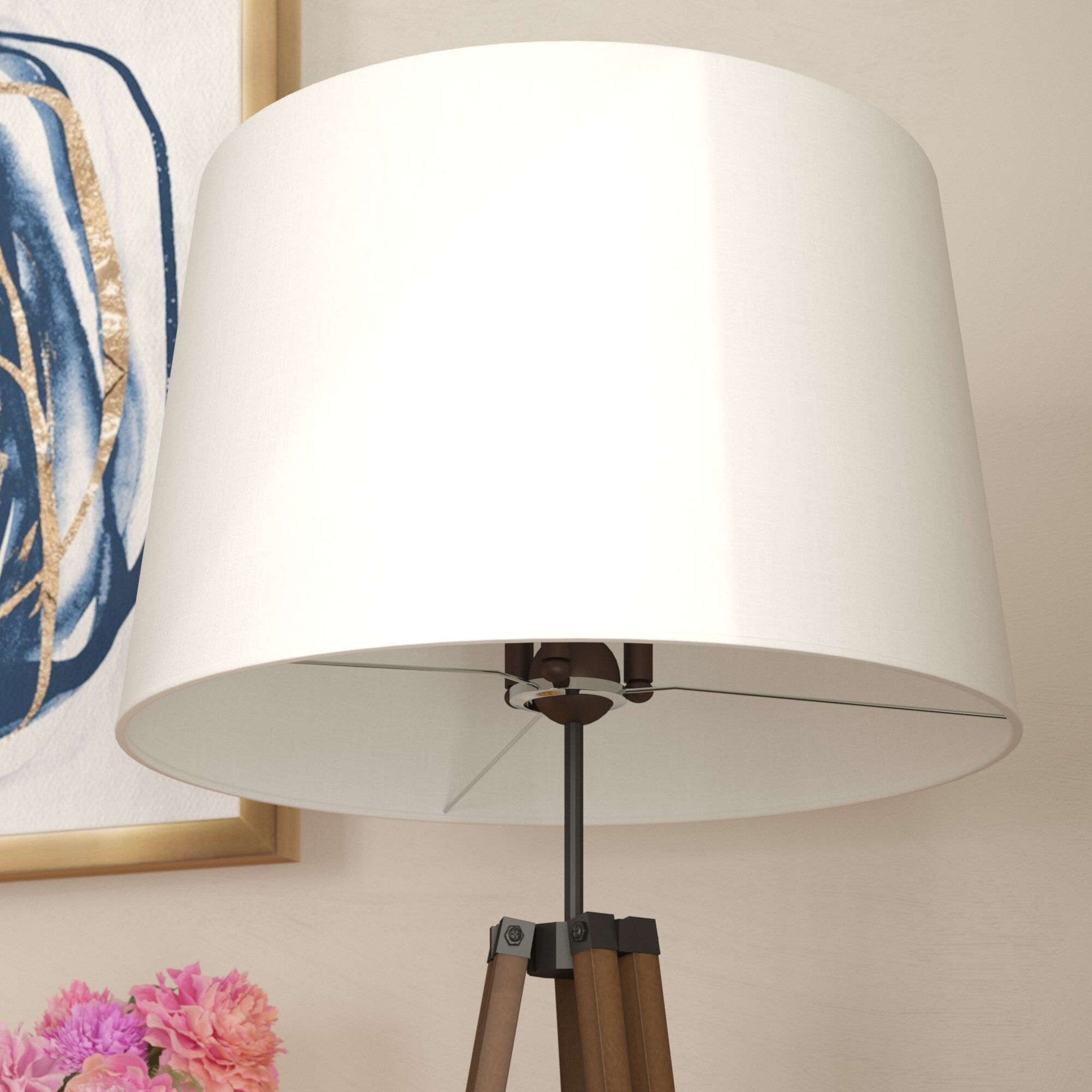shade wood black fitter lamp with oslo and linen metal products floor uno