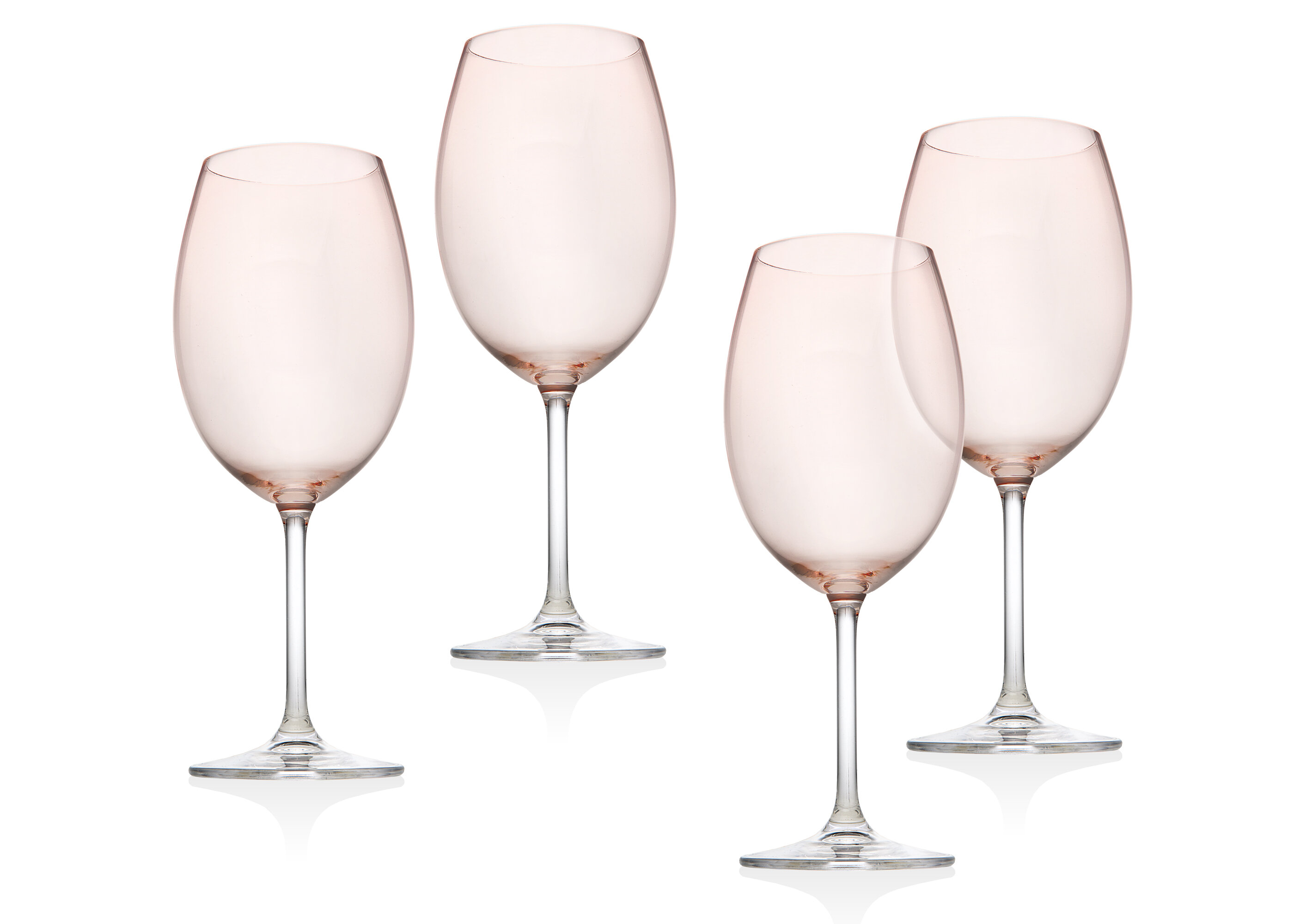 Godinger Silver Art Co Meridian Blush 12 Oz Crystal All Purpose Wine Glass Reviews Wayfair