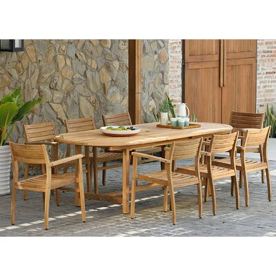 Amos 9 Piece Teak Dining Set by Longshore Tides Top Reviews