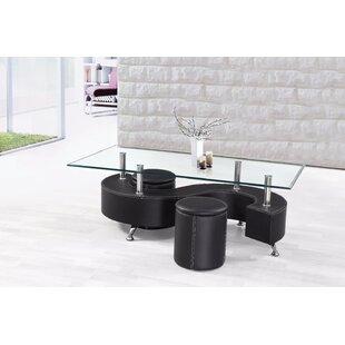 Orren Ellis Bluhm Lavish Coffee Table with 2 Ottomans