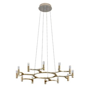 Nexus 12-Light LED Geometric Chandelier by Corbett Lighting