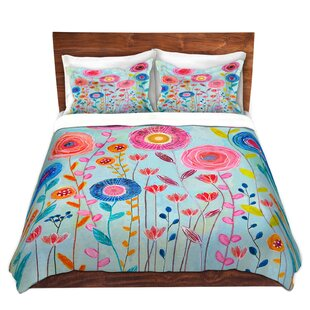 Ebern Designs Shumway Sascalia Bloom Microfiber Duvet Covers