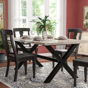 Coleville Solid Wood Dining Table Red Barrel Studio