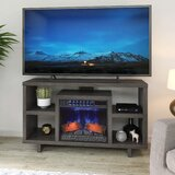 Daymion TV Stand for TVs up to 65 with Electric Fireplace Included by Latitude Run®