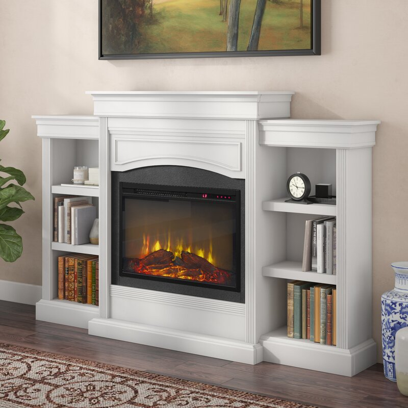 Charlton Home Allsop Mantel Wall Mounted Electric Fireplace