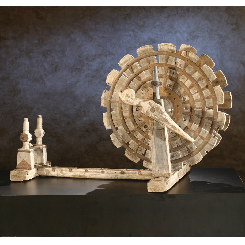 Wooden Spinning Wheel/Charkha