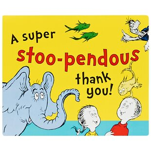 Dr. Seuss Paper Disposable Thank You Notes (Set of 8)