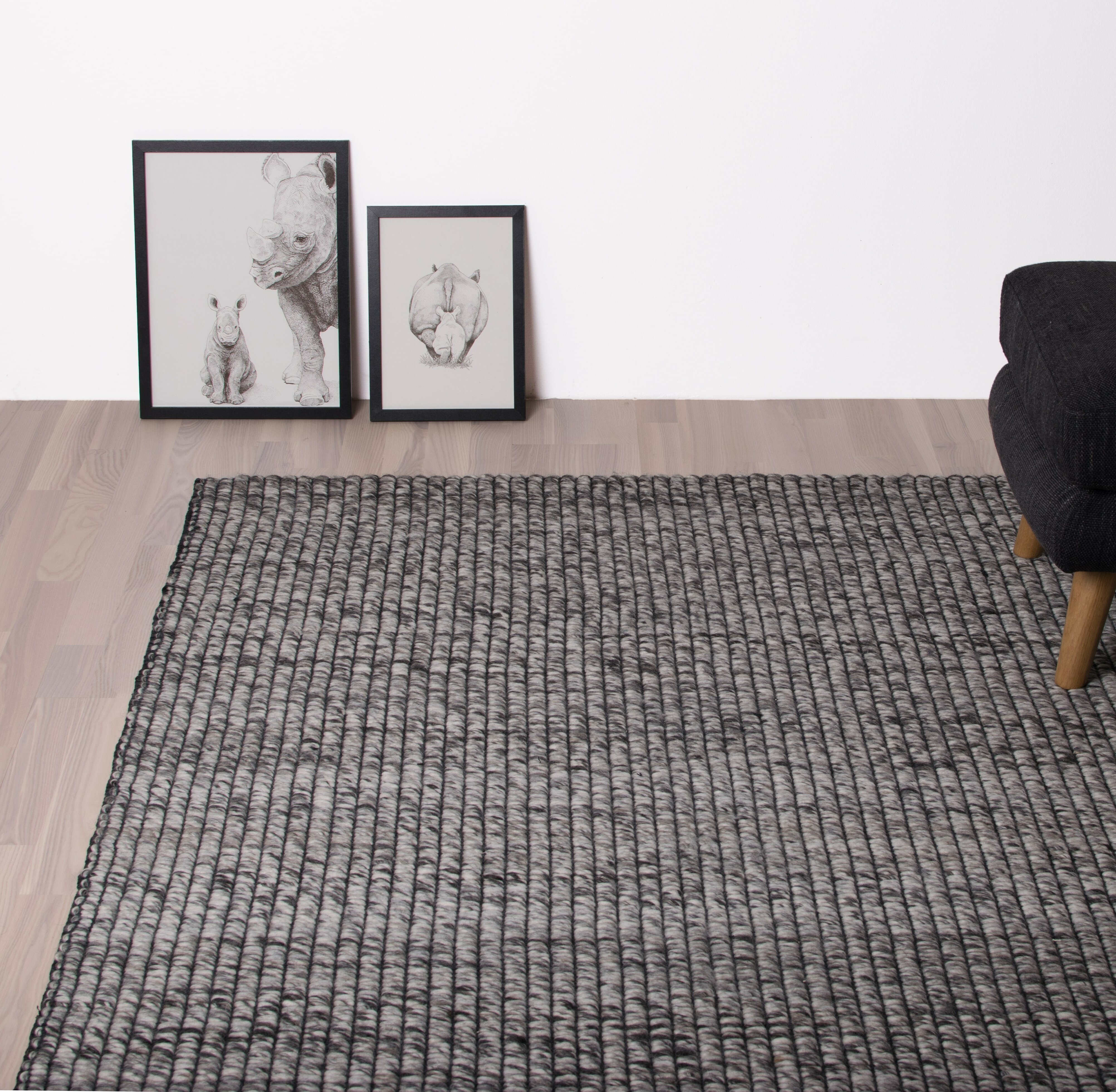 Hc Taepper Handgefertigter Teppich Iceland In Grau Wayfair De