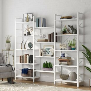 Gardin Triple Wide Etagere Bookcase By Rosecliff Heights