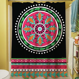 Boho Medallion Square Single Shower Curtain