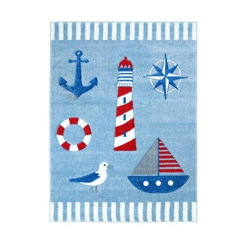 Kinderteppich Segelboot in Blau | Kinderzimmer > Textilien für Kinder > Kinderteppiche | Carpet City
