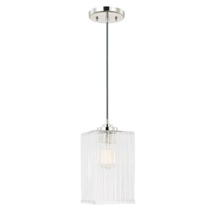 Reviews 1-Light Square/Rectangle Pendant By Wrought Studio
