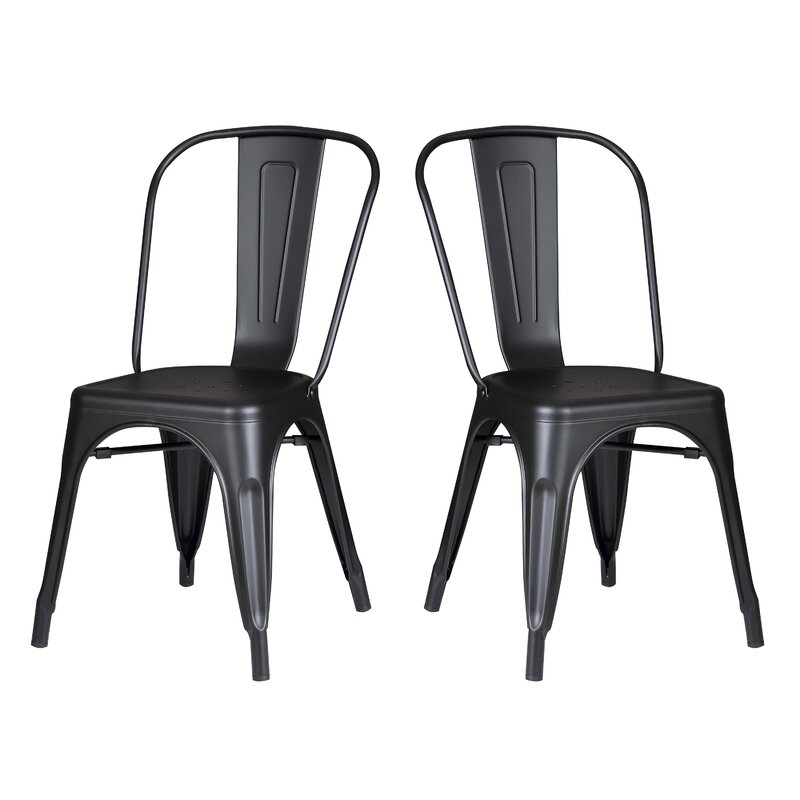 norman side chair set of 2 - Modern Kitchen Chairs