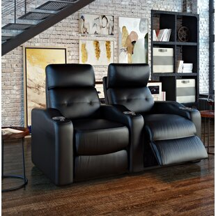 Power Leather Home Theater Loveseat ByEbern Designs