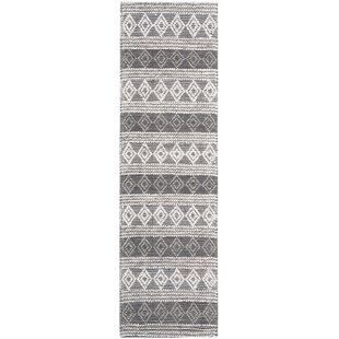 Affordable Jacques Handwoven Wool Gray/Black Area Rug By Union Rustic