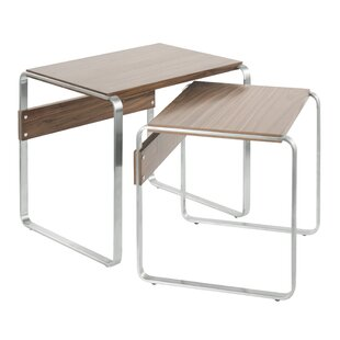 Ryker Mid-Century 2 Piece Nesting Tables by Latitude Run