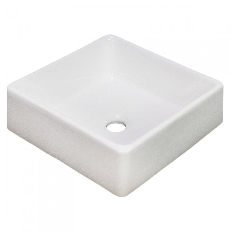 Royal Purple Bath Kitchen Ceramic Square Vessel Batroom Sink