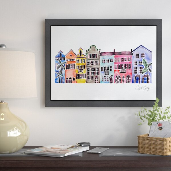 b7eb9ee2646 East Urban Home  Rainbow Row  Graphic Art Print