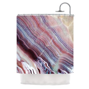 'Sunrise Agate' Single Shower Curtain