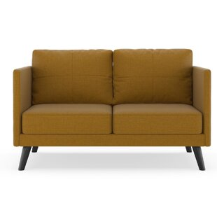 Rodemack Linen Weave Loveseat by Brayden Studio