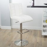 Duechle Swivel Adjustable Height Bar Stool by Orren Ellis