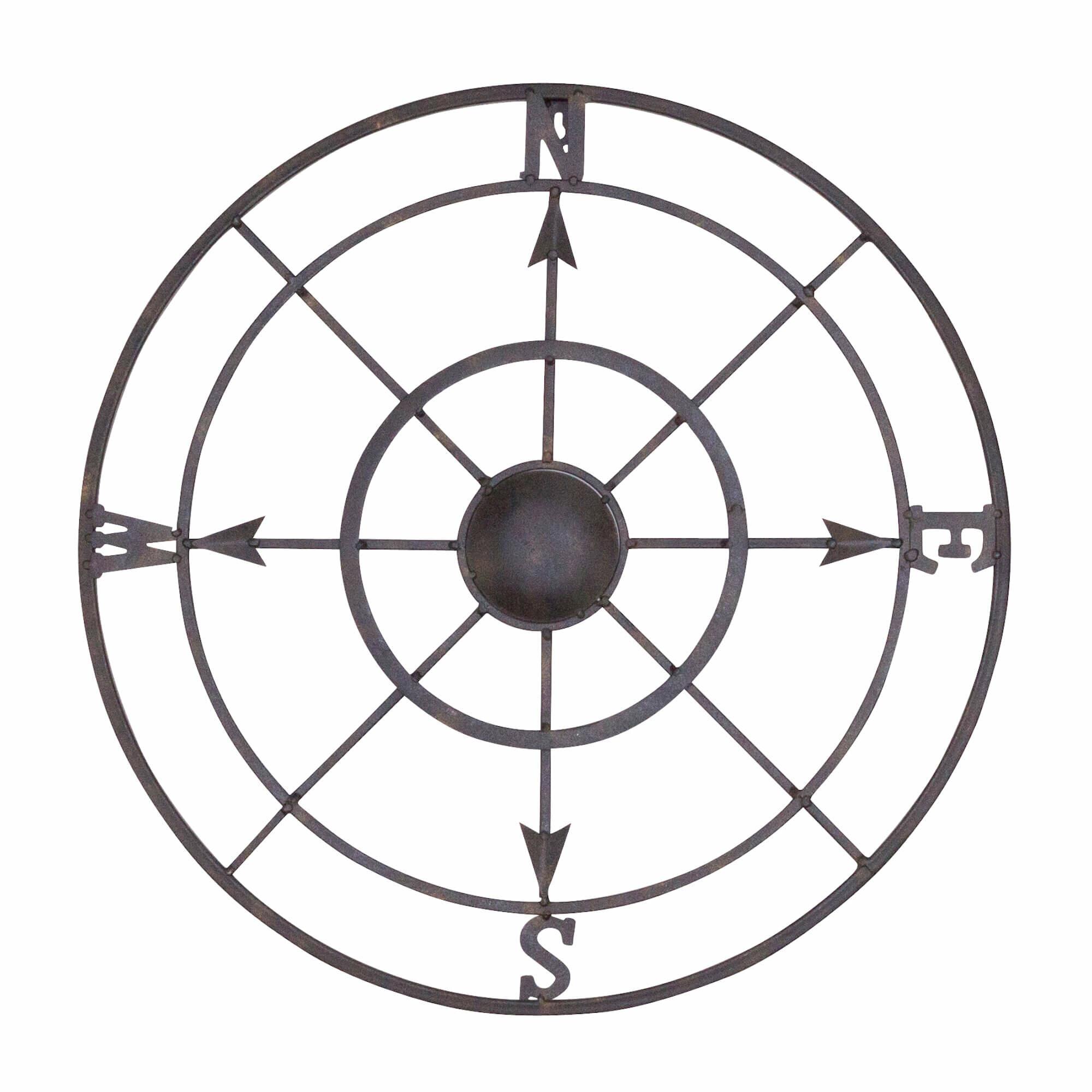 nautical metal compass rose wall décor reviews joss main