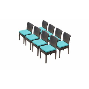 Meier Patio Dining Chair with Cushion (Set of 8)