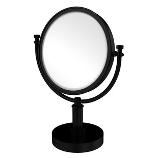 Vanity Top Make-Up Magnification Mirror with Dotted Detail