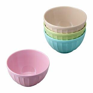 Eastville Ribbed Ice Cream Melamine Dessert Bowl (Set of 4)