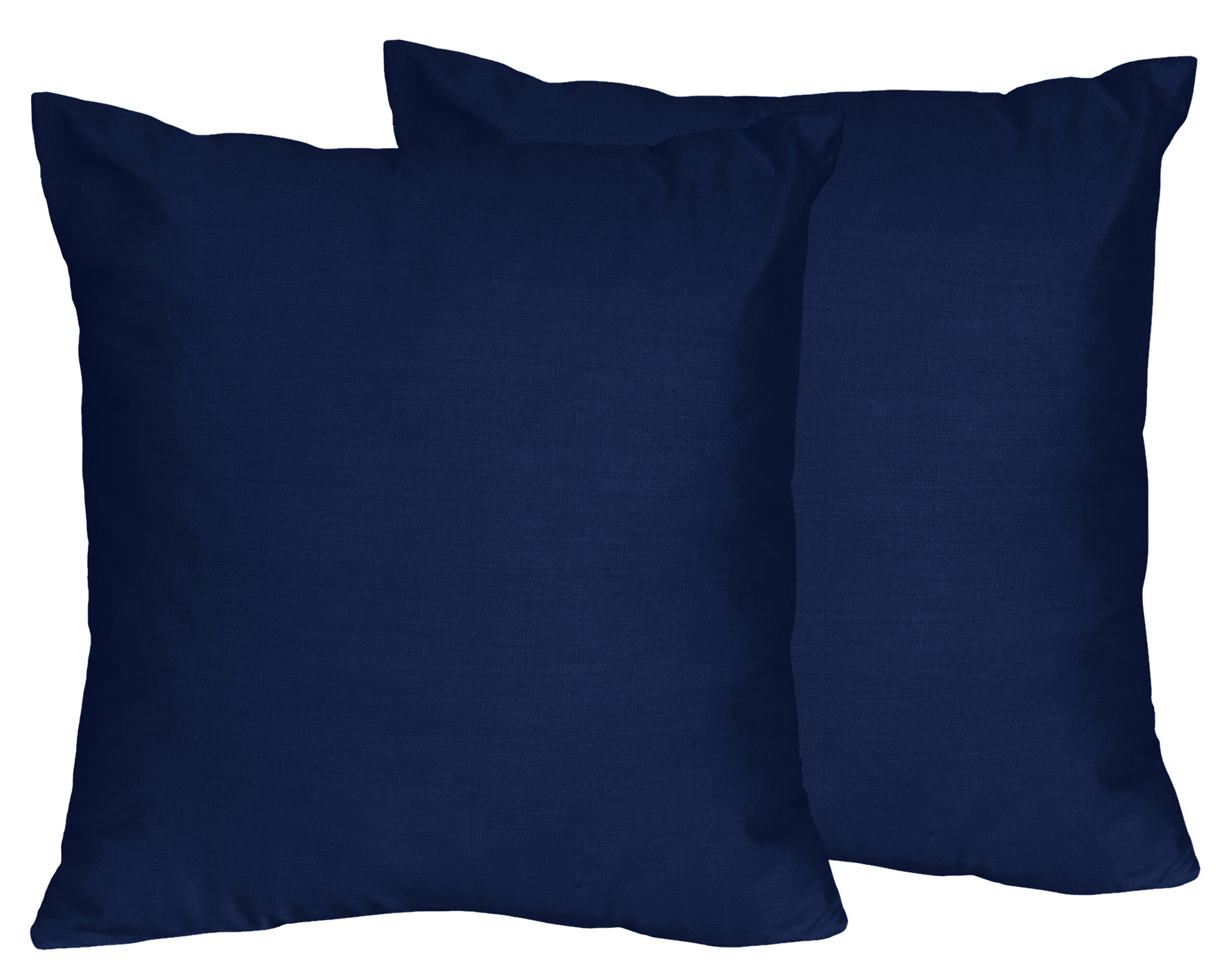 Sweet Jojo Designs Stripe Collection Navy Blue Throw Pillows Set