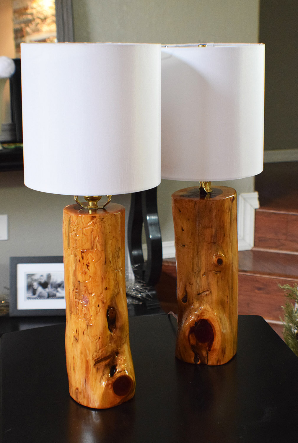 Loon peak wayne usa ozark made cedar 24 table lamp wayfair