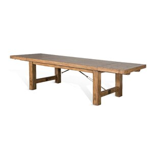 Joliette Solid Wood Dining Table Loon Peak