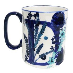 Erwin Floral 'D' Initial Coffee Mug
