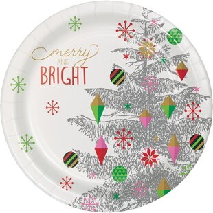 Monahan Christmas Tree Paper Dessert Plate (Set of 24)