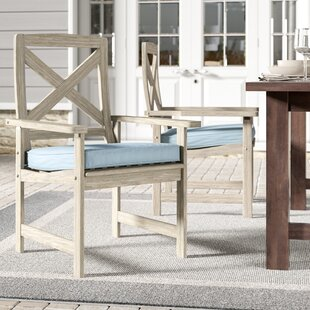 Englewood Patio Dining Chair with Cushion (Set of 2) by Beachcrest Home