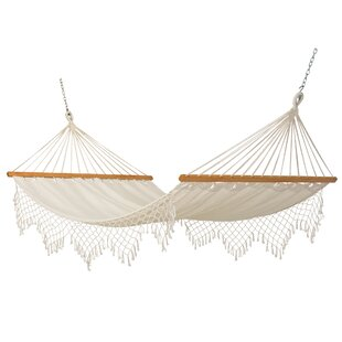 Blithedale Canvas Tree Hammock With Fringe