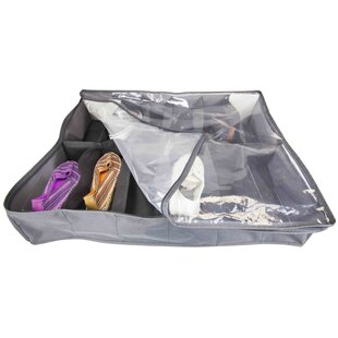 Home Basics Polyester 12 Pair Under the Bed Shoe Box