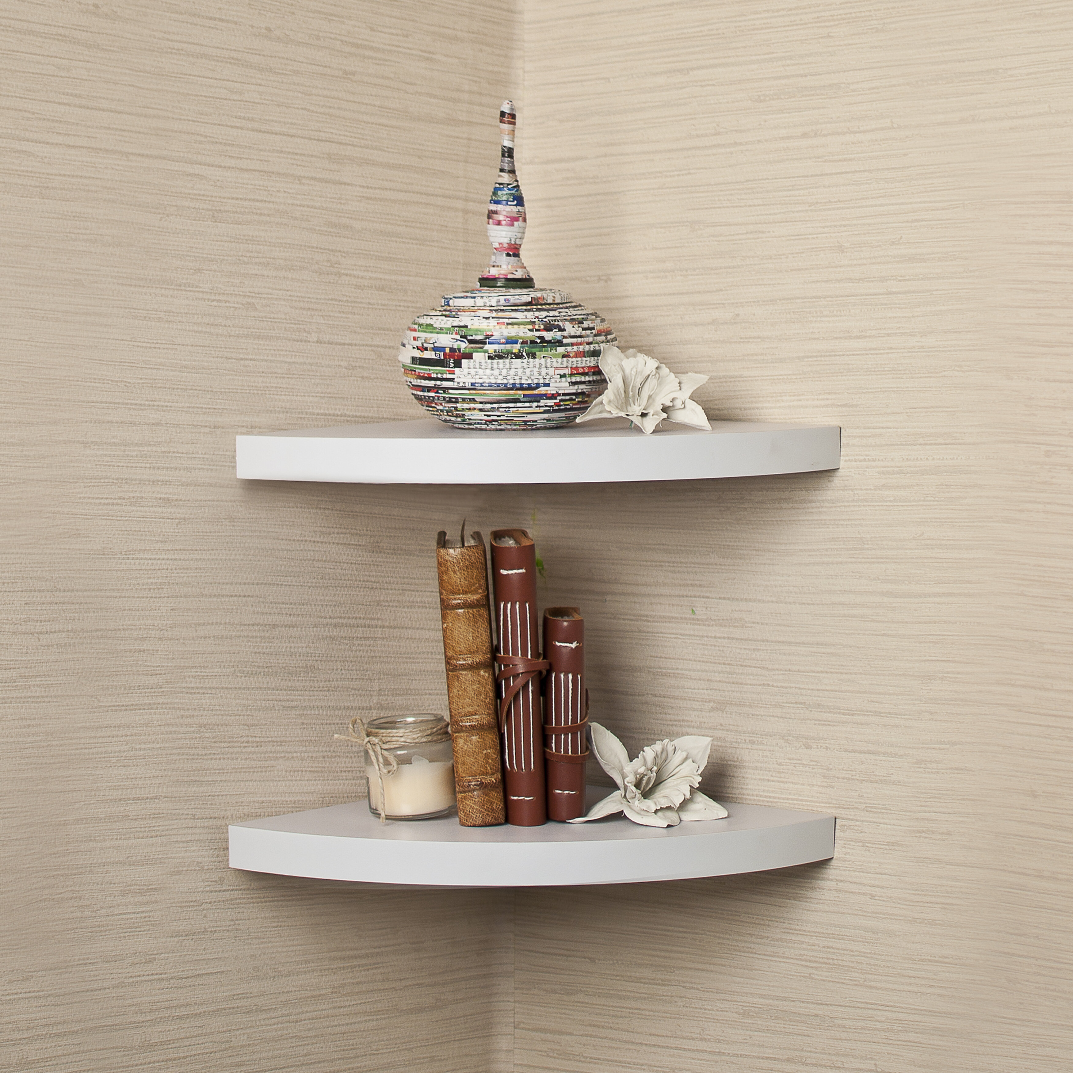 Beachcrest Home Rustic Corner Radial Shelf Reviews