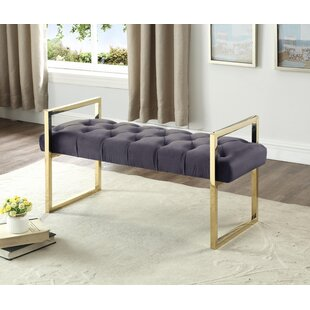Celis Button-Tufted Upholstered Bench