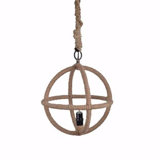 Reylock Beautifully 1-Light Globe Pendant by Breakwater Bay