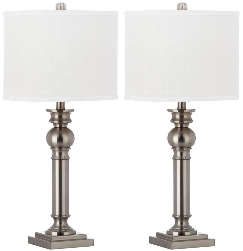 "Bathroom Light Fixtures Argos safavieh argos column 28.25"" table lamps & reviews | wayfair"
