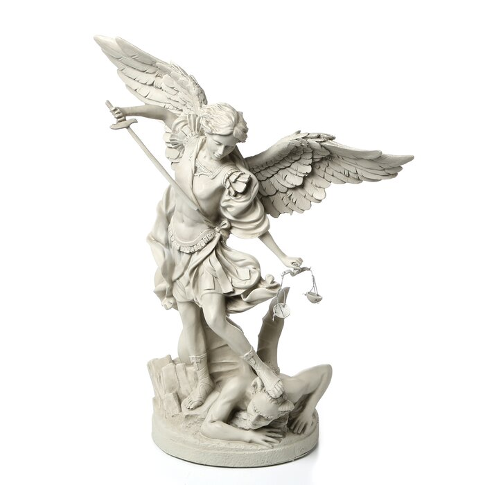 c977e66e780 Design Toscano St. Michael the Archangel Gallery Statue & Reviews | Wayfair