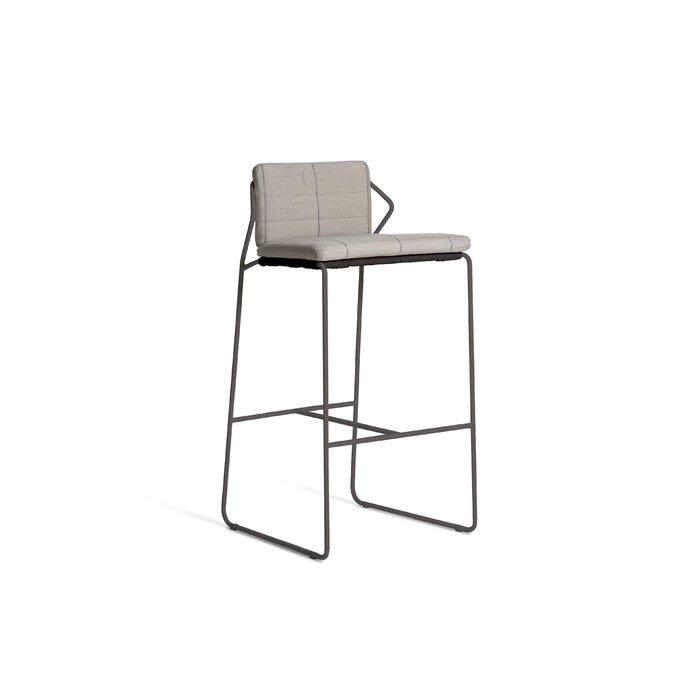 Stupendous Sandur Patio Bar Stool With Cushion Unemploymentrelief Wooden Chair Designs For Living Room Unemploymentrelieforg