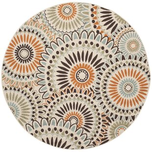 Caroline Cream/Chocolate Indoor/Outdoor Area Rug by Safavieh
