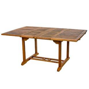 Humphrey Extendable Teak Dining Table by Longshore Tides